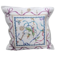 Decorative pillow Floral Purple 45 x 45 cm