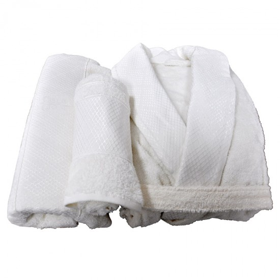 Champagne Towel Set for Her 3 pcs