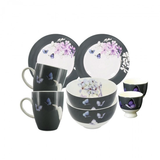 Violette Breakfast for Two Set 8 pcs