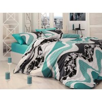 Quilt Cover Set Wave Turkuaz