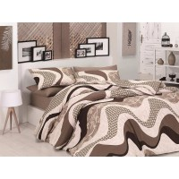 Quilt Cover Set Wave Kahve