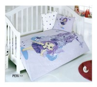 Children's Quilt Cover Set Peri Lila