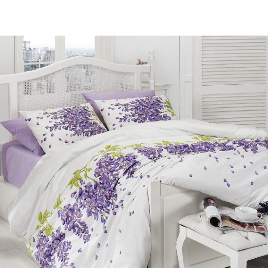 Double Size Quilt Cover Set Wisteria Mor