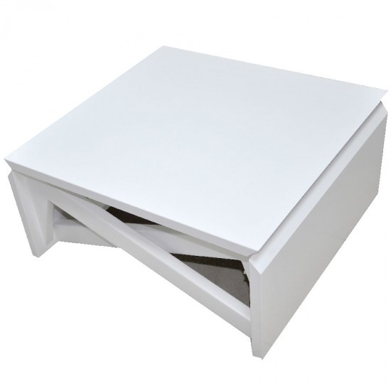 Folding Table, White with mechanism low and high