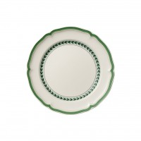 French Garden Green Line dinner plate