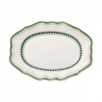 French Garden Green Line Oval Platter