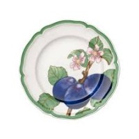 French Garden Modern Fruits breakfast plate Plum