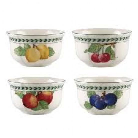 French Garden Modern Fruits bowl 4-piece set