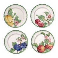 French Garden Modern Fruits dinner plate 4-piece set