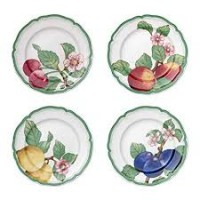 French Garden Modern Fruits breakfast plate 4-piece set