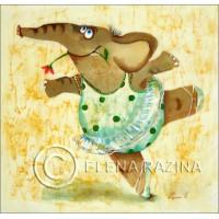 Ballerina Elephant Card