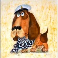 Captain Dog Card