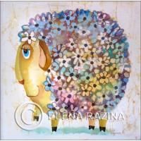 Pretty Sheep Card