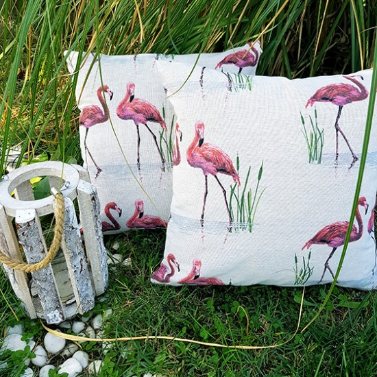 Decorative pillow Flamingo 43 x 43 cm