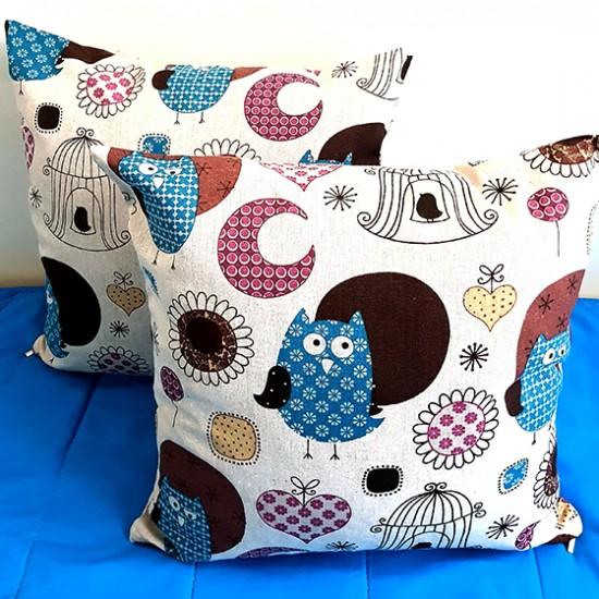 Decorative pillowcase Owl 43 x 43 cm