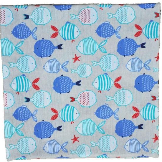 Decorative pillowcase Fish 45 x 45 cm