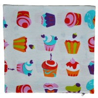 Decorative pillowcase Cupcakes 45 x 45 cm