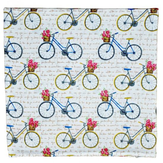 Decorative pillowcase Bicycles 45 x 45 cm