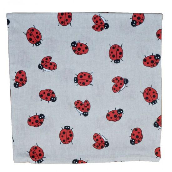 Decorative pillowcase Ladybugs 45 x 45 cm