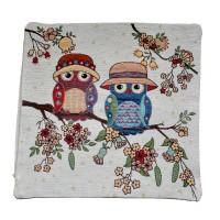 Decorative pillowcase Owls 45 x 45 cm