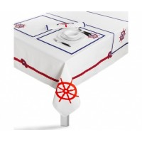 Textile Tableset Red Anchor 15 pcs