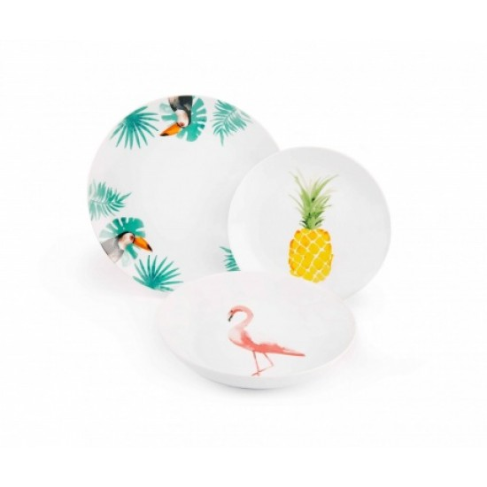 Tropical Paradise Table set 18 pcs