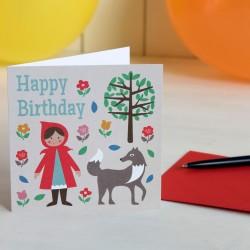 Картичка за рожден ден Red Riding Hood