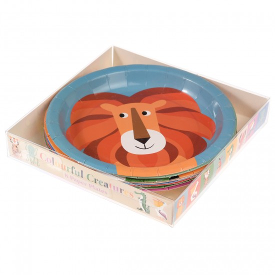 Colourful Creatures Plate Set 8 pcs