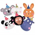 Party Animal Face Masks (pack Of 6)