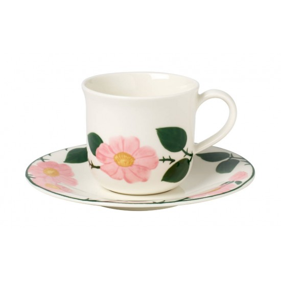 Rose Sauvage breakfast cup & saucer set 12 pcs