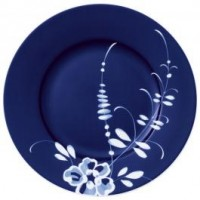 Old Luxembourg Brindille blue breakfast plate set 6 pcs