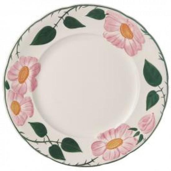 Rose Sauvage héritage Flat plate set 6 pcs