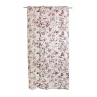 Chique Curtain 140x245cm, Red