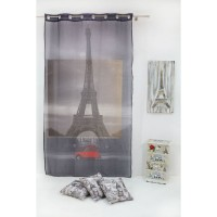 Parizian Sheer Curtain 140x245 cm, Grey