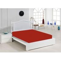 Jersey Sheet 140x200 cm, Red
