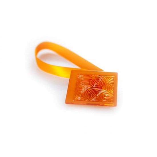 Square Magnetic Clip, Orange