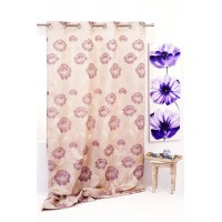 Izolde Curtain 140x245 cm, Beige/Purple