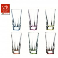 Fusion Highball Tumblers Coloured Set 6 pcs