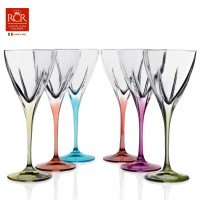 Fusion Red Wine Goblets Set Coloured 6 pcs