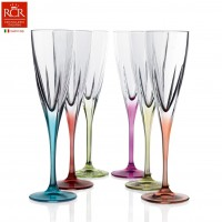 Fusion Flutes Coloured Set 6 pcs