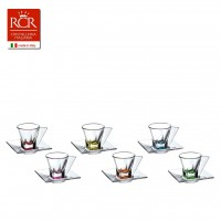 Fusion Espresso Set Coloured 6 pcs
