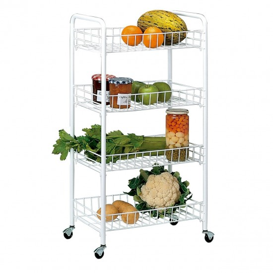 4-shelf Multipurpose Trolley