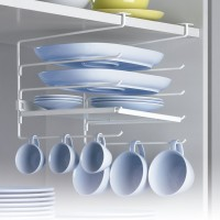 Cup Rack with Shelf for Cupboards