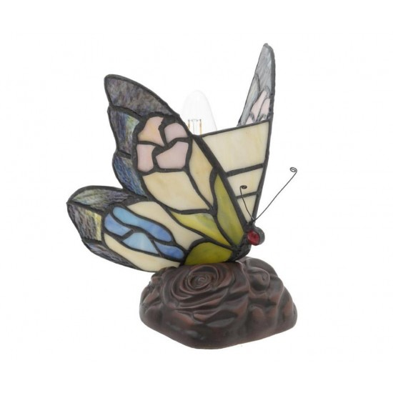 Butterfly Black and Pink Table Lamp