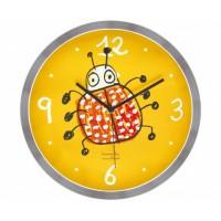 Bug Yellow Wall Clock