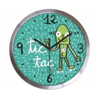 Tic Tac Green Wall Clock