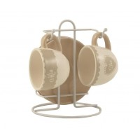 Griebia Cups & Saucers on a Stand Set 5 pcs