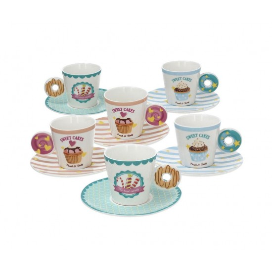 Relax Azz Rose Cups & Saucers Set 12 pcs