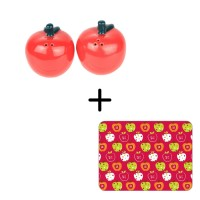 Apple Placemat Set + Salt & Pepper Set