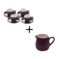 Culture Purple Espresso Set + Creamer 9 pcs